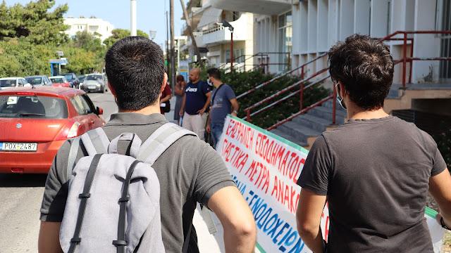 Πραγματοποιήθηκε η διαμαρτυρία της Επιτροπής Αγώνα στον ΟΑΕΔ στις 28/9