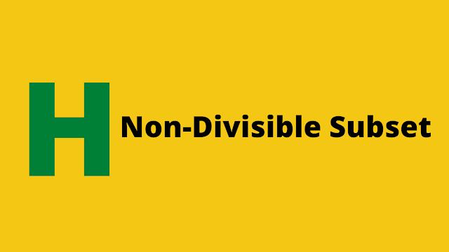HackerRank Non-Divisible Subset problem solution