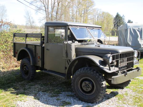 1954 Dodge M37 4x4 Truck For Sale