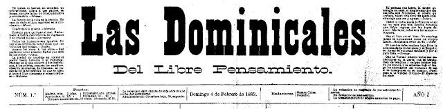 Cabecera del primer número de Las Dominicales