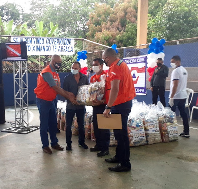 Curuá recebe 500 cestas básicas do estado para auxiliar famílias atingidas pela enchente
