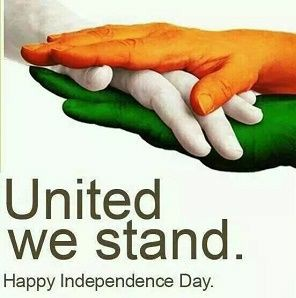 united we stand. happy independence day