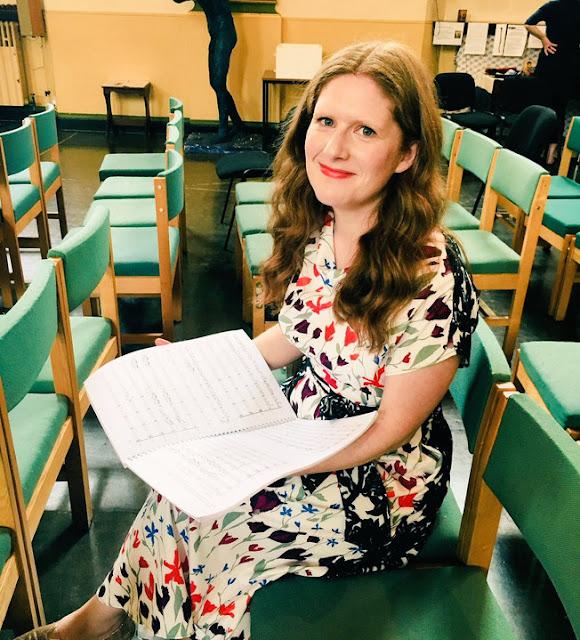 Cheryl Frances Hoad rehearsing at St Johns Waterloo 2018 (Photo Maxie Gedge)