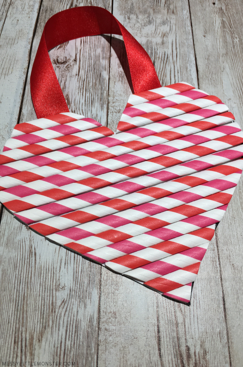 easy heart craft for kids with heart template