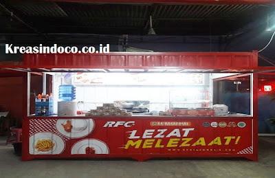 Gerobak Besi Booth Semi Kontainer Melayani Seluruh Jakarta