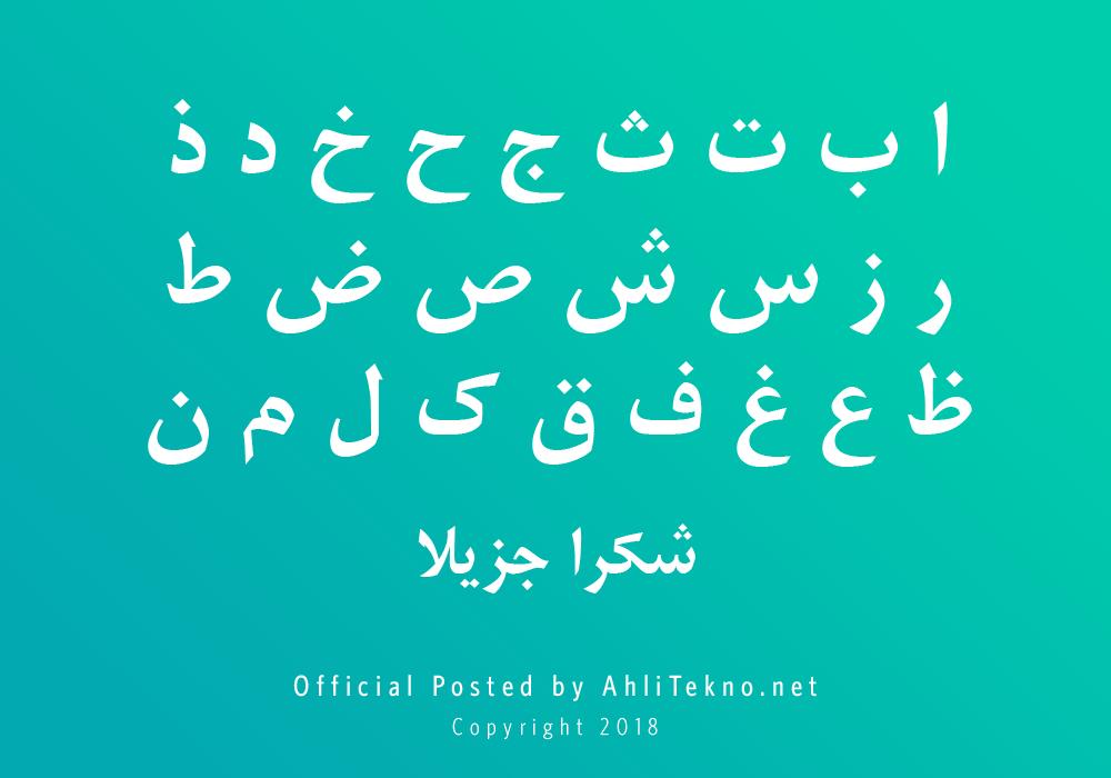 kumpulan font typography arabic keren (A Nefel Botan)
