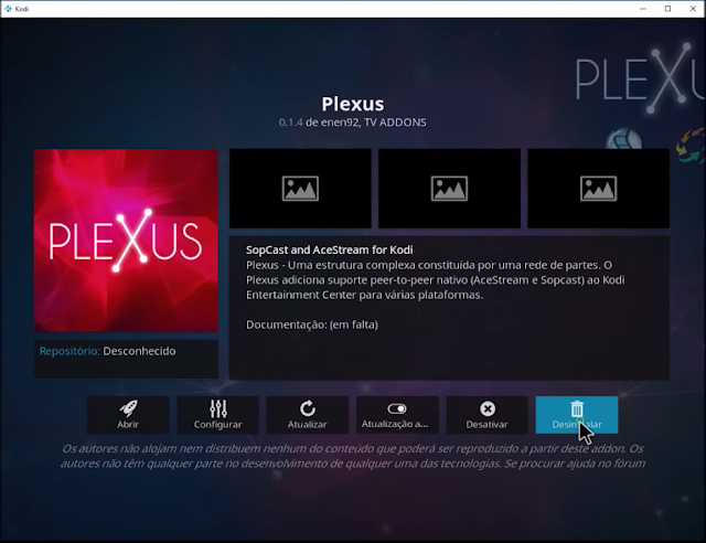 plexus uninstall