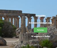 Logo #AdessoRestoACasa: gioca e puoi vincere gratis 21 soggiorni in Sicilia