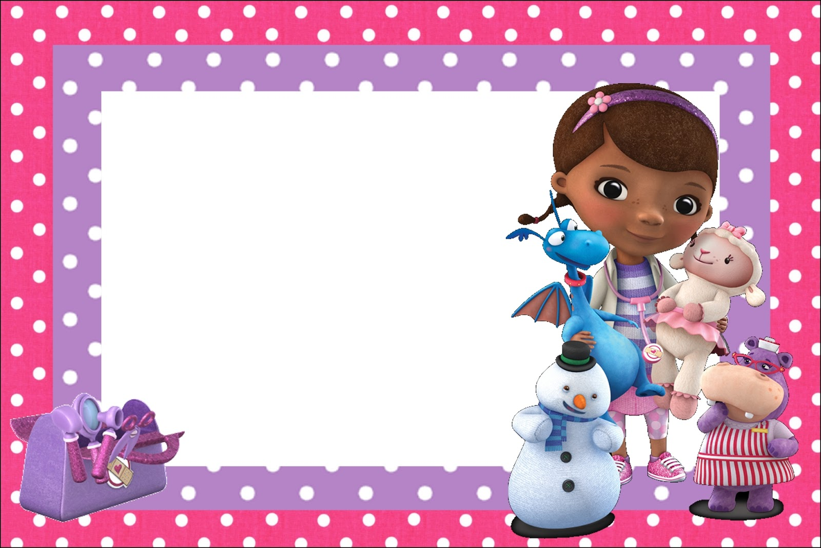 photograph regarding Doc Mcstuffins Printable Labels referred to as Document McStuffins: Cost-free Printable Invites. - Oh My Fiesta