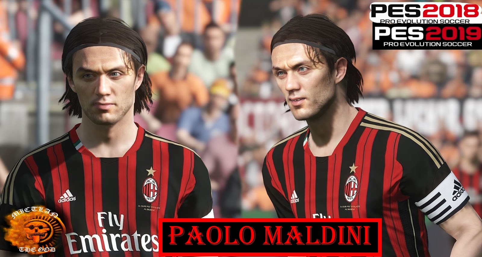 PES 2018 / PES 2019 Paolo Maldini face by MictlanTheGod