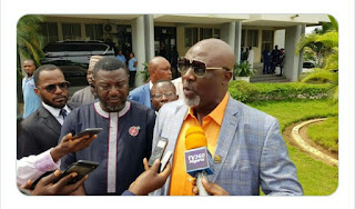 Kogi Election: Dino Melaye Arrives INEC National Headquarter (Photo)