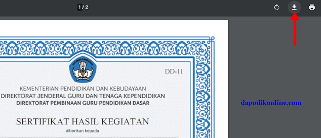 Download Sertifikat Diklat K13 File PDF