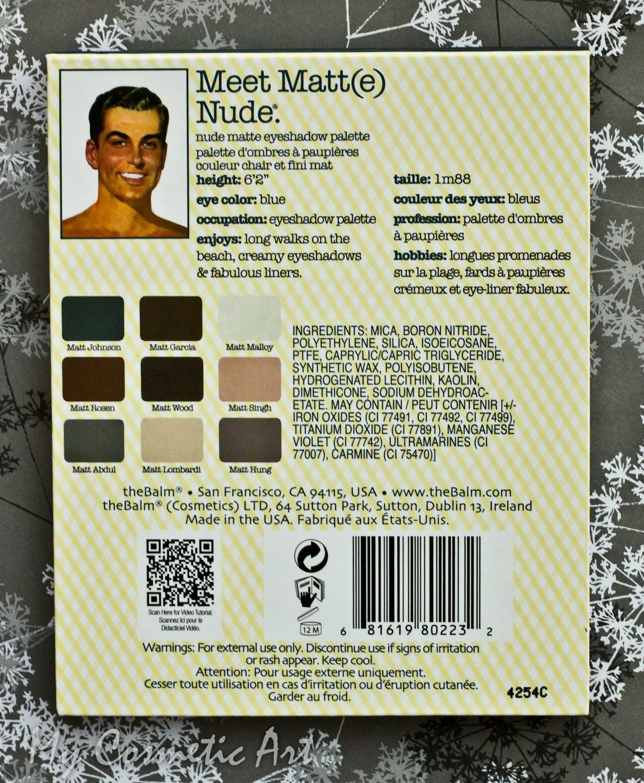 Paleta de sombras de ojos Meet Matt(e) Nude de The Balm