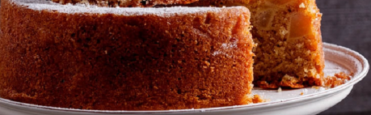Spiced pear butter cake recipe