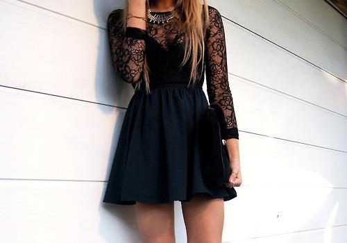 vestigo manga longa preto