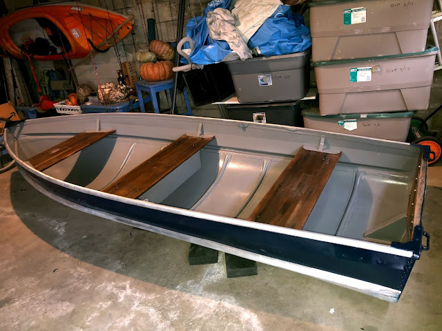 Restoration of 1970's Sea King Aluminum Rowboat