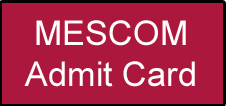 MESCOM Admit Card 2020 AE JE AAO JA JLM Hal Ticket Download