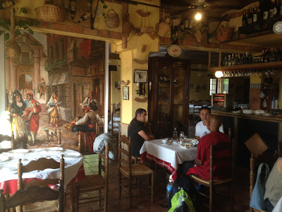 Andalusian breakfast in the rustic hotel