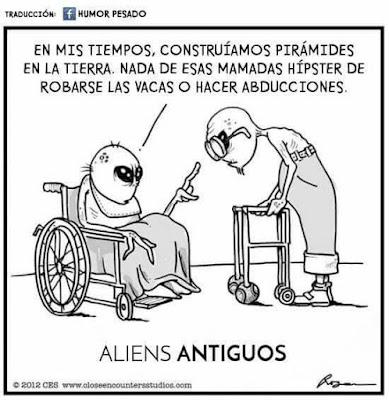Meme de humor sobre alienígenas