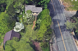 Distorted google map picture of Pennington Road in Ewing, NJ