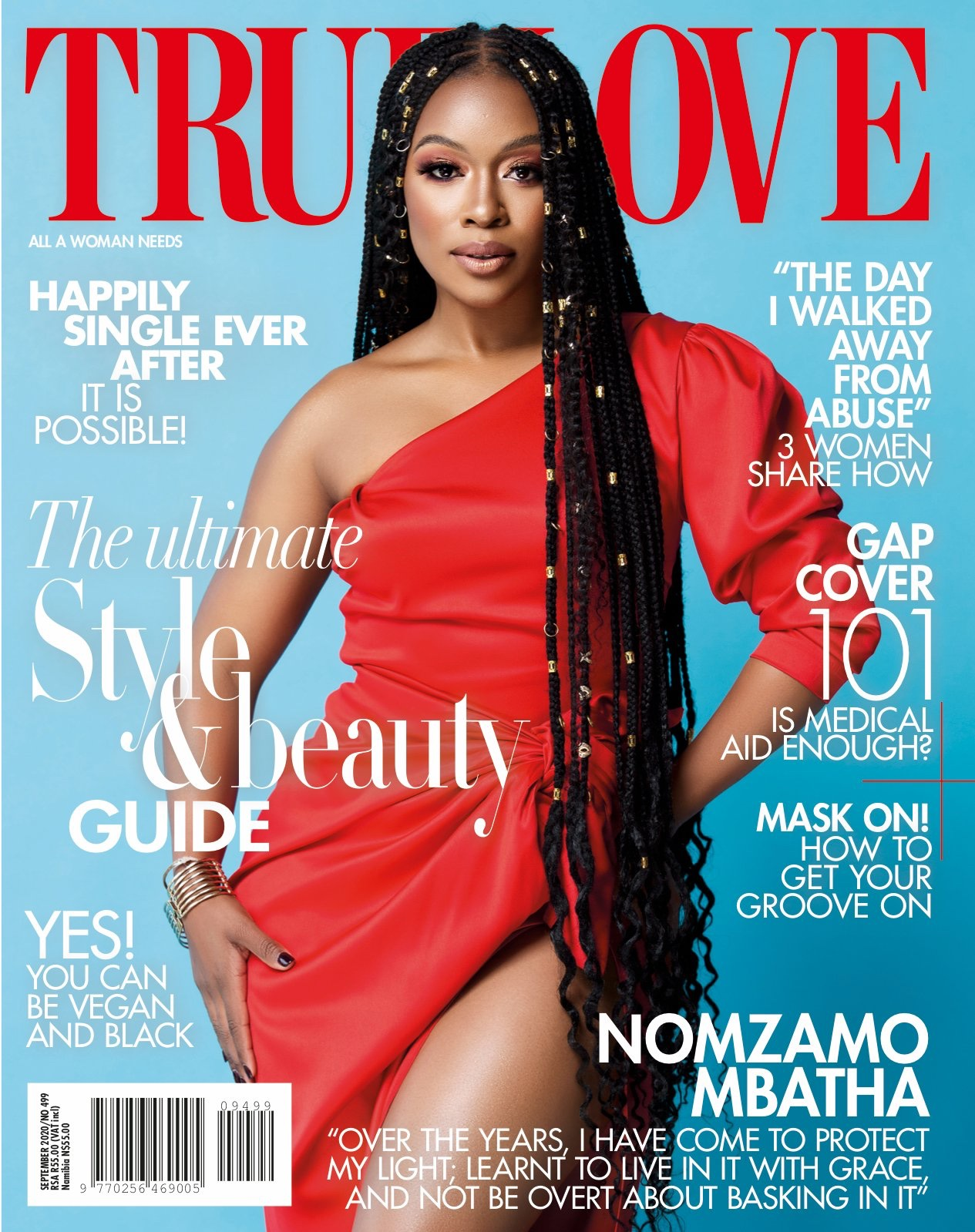Nomzamo Mbatha shines on True Love Magazine's September 2020 Cover