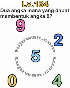 Brain out dua angka mana yang dapat membentuk angka 8?