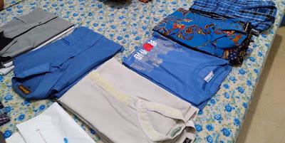 langkah-langkah sortir pakaian