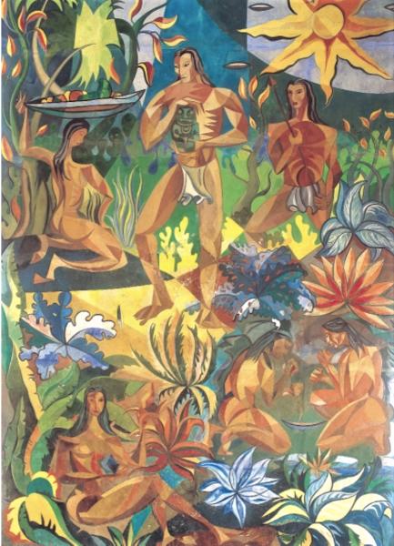 Escena taína (fragmento), 1958