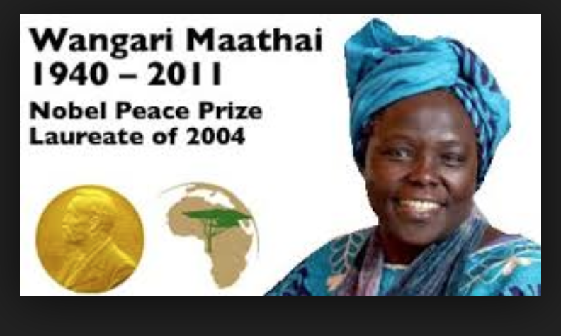 wangari maathai essay essay The essay prize competition is named in honor of wangari maathai ( b1940-d 2011), the kenyan scholar and activist who, in 2004, became the first african woman to win the nobel peace prize.