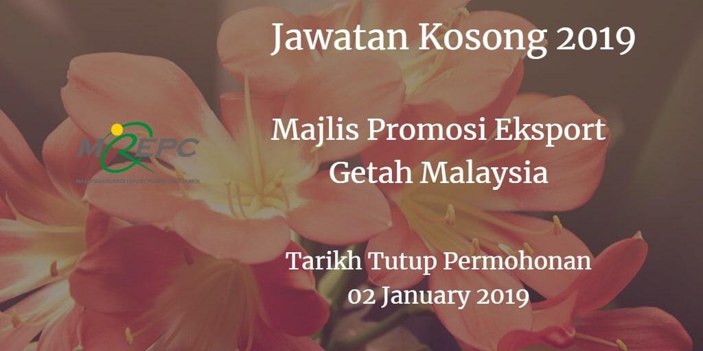 Jawatan Kosong MREPC 02 January 2019