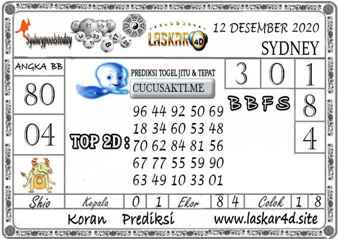 Prediksi Togel SYDNEY LASKAR4D 12 DESEMBER 2020