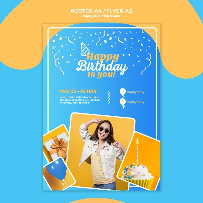 Happy Birthday Flyer Template