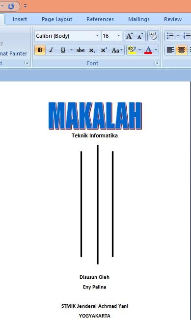 Cara Membuat Cover Yang Bagus Di Ms Word 2007 Dengan Cepat Untuk Pemula