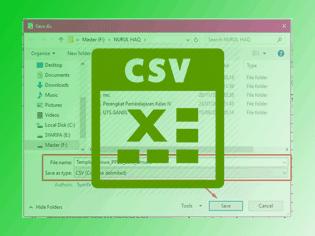 Cara Mudah Menyimpan File Form Emis Siswa Baru Ke Format CSV