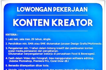 Lowongan Kerja Konten Kreator PT Berkat Akur Nanjaya
