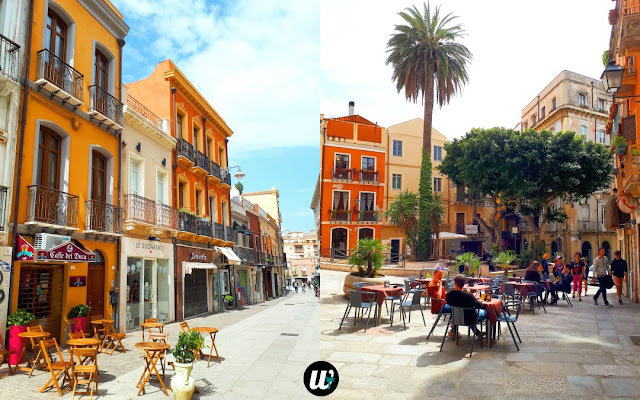 Streets and restaurants, Cagliari | Sardinia, Italy | wayamaya