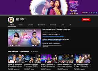 SET India youtube channel