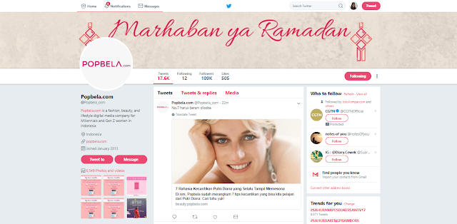 Twitter, Popbela, Perempuan, Beauty, Fashion, Healthy, Hiburan, IDN Indonesia, Popbela Website, Situs Popbela