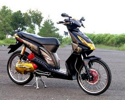 Modif Motor Honda Beat FI Hitam Keren