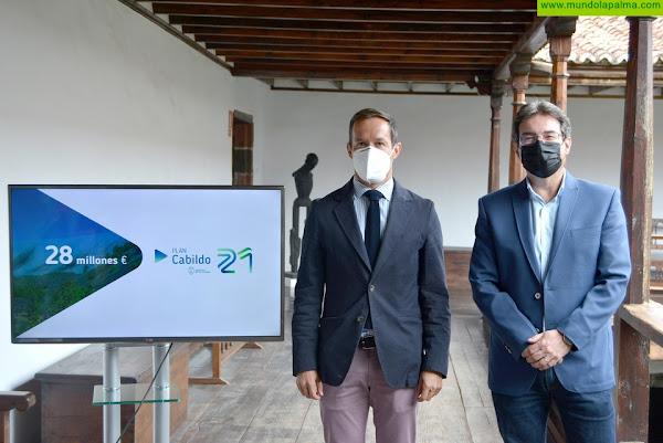 El Cabildo presenta el 'Plan Cabildo21' con 28 millones para estimular la economía insular