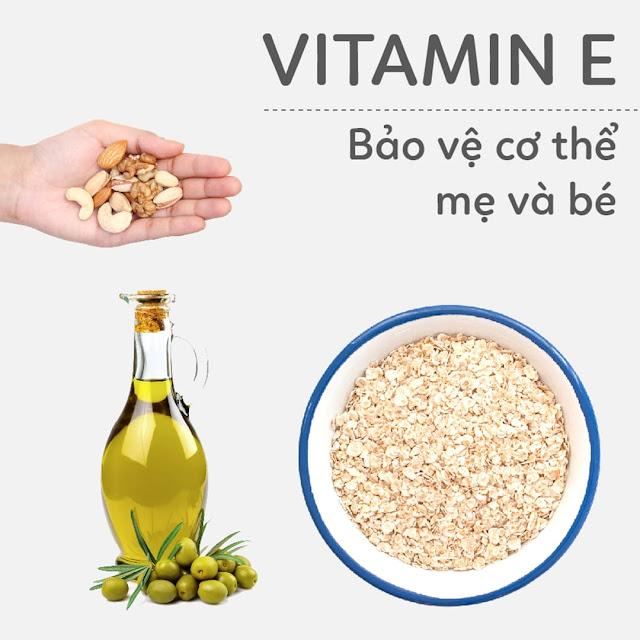 Hướng dẫn Mẹ Bầu bổ sung Vitamin E - Bảo vệ cơ thể Mẹ và thai nhi
