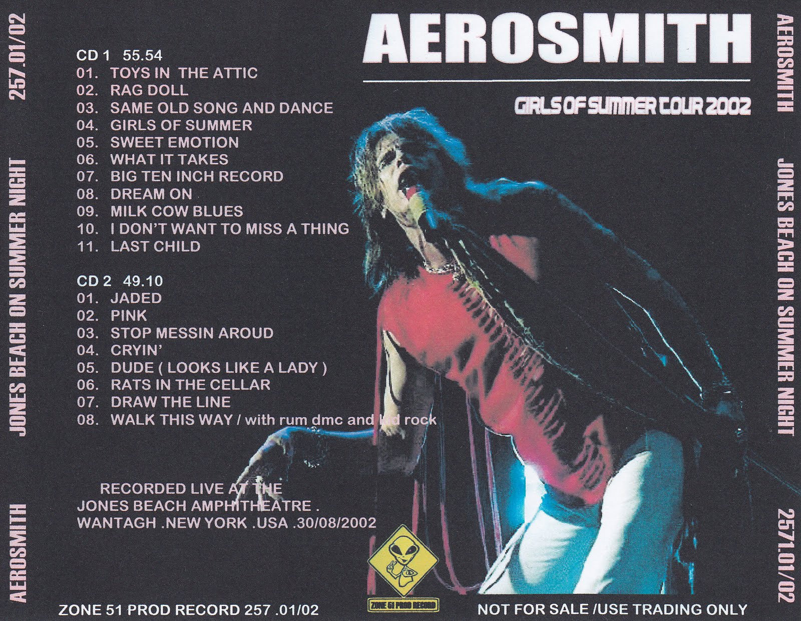 Aerosmith Bootlegs Cover Arts Jones Beach On Summer Night