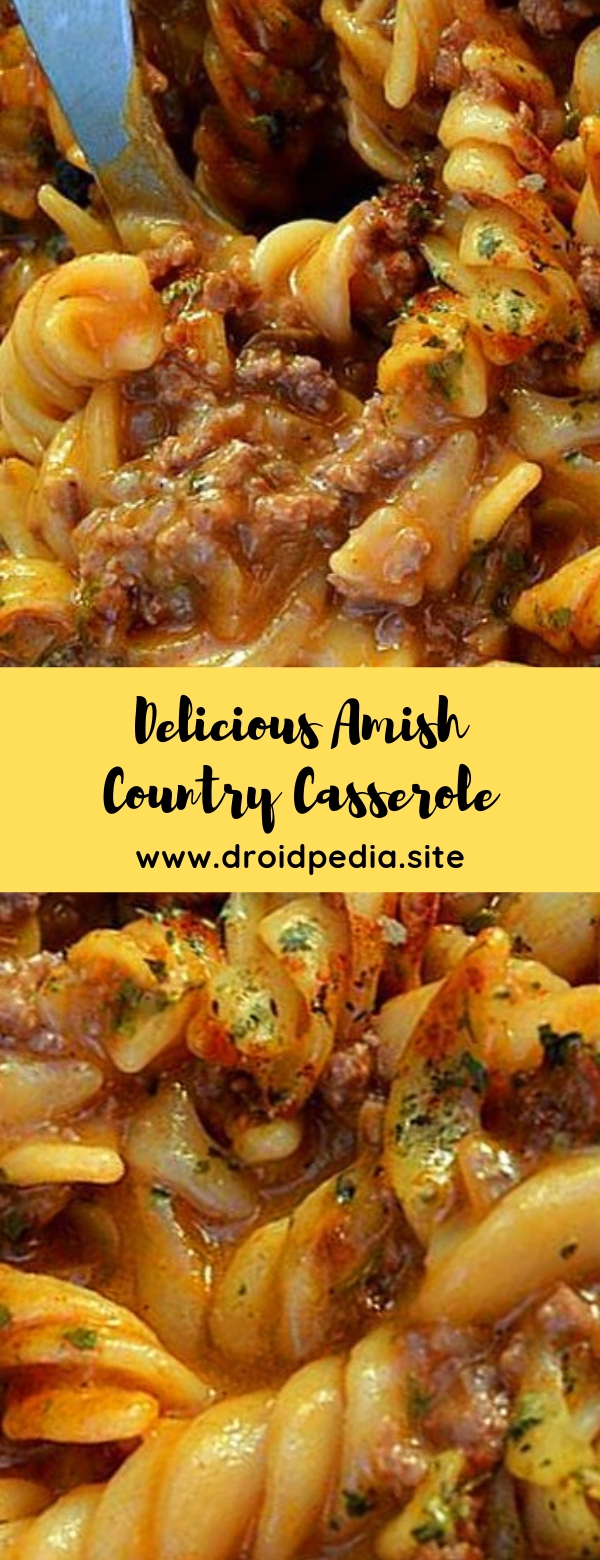 Delicious Amish Country Casserole #casserole #dinner