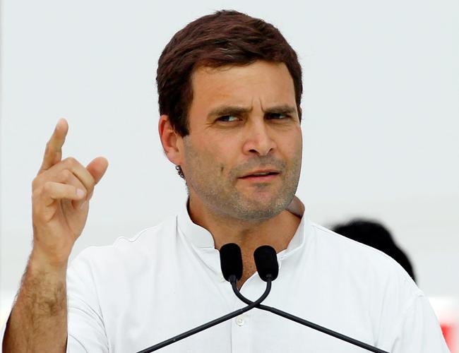 मेक इन इंडिया का बब्बर शेर चूहे की आवाज भी नहीं निकालता - राहुल गांधी