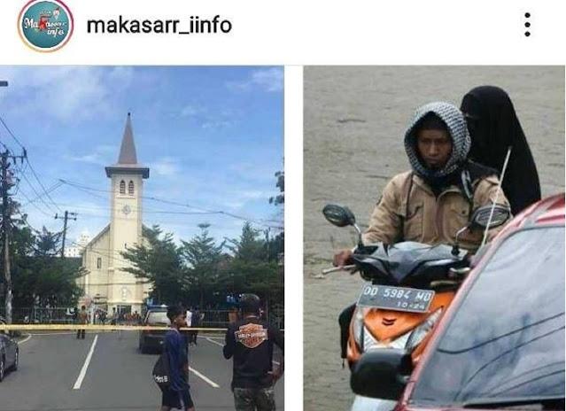 Netizen Temukan 4 Kejanggalan di Foto Pelaku Bom Bunuh Diri di Katedral Makassar