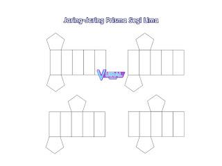 Contoh Gambar Jaring-Jaring Prisma Segi Lima
