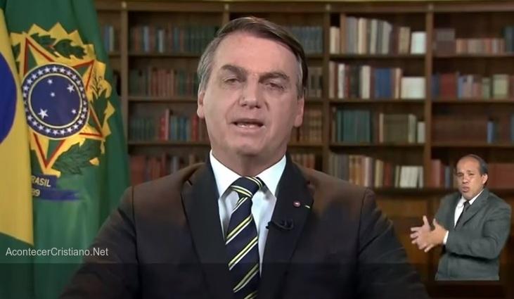 Jair Bolsonaro en mensaje a la nación