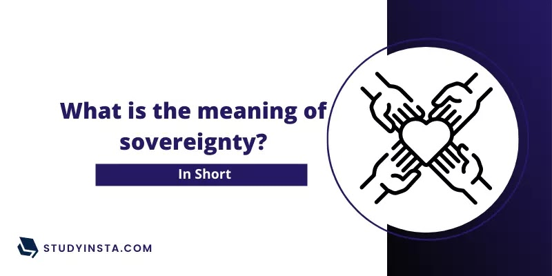 What is the meaning of sovereignty?