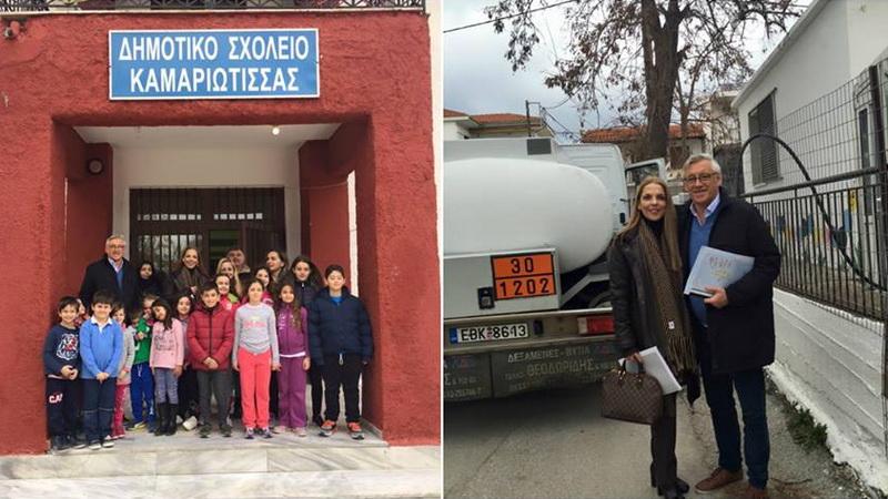 Ο Βέλγος φιλέλληνας Jimmy Jamar ζεσταίνει δωρεάν τα σχολεία της Σαμοθράκης