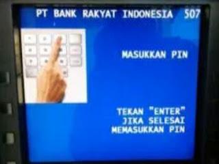 Cara Mearik Uang Di ATM BANK BRI